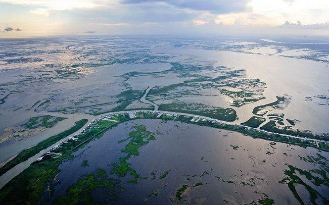 How It Looks Now Wetland Levee Coastal
