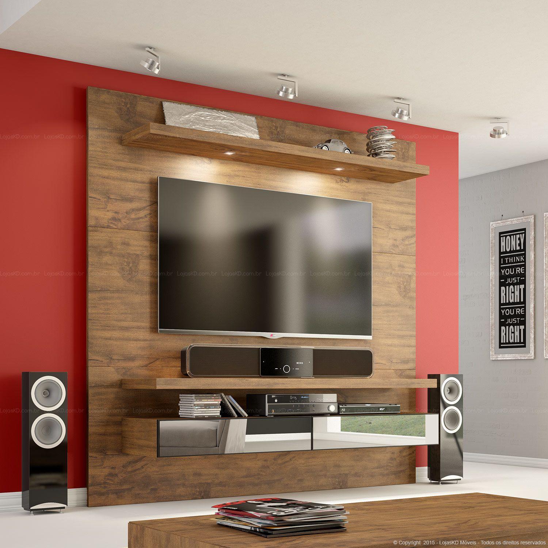 875 39 Home Suspenso Para Tv At 50 Polegadas Tb107 Com Led E  # Meuble Tv Led Gris