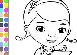 DoctoraJuguetesJuegos.com - Juego: Colorear Doctora Juguetes - Pintar Doctora Juguetes Disney Jugar Gratis Online