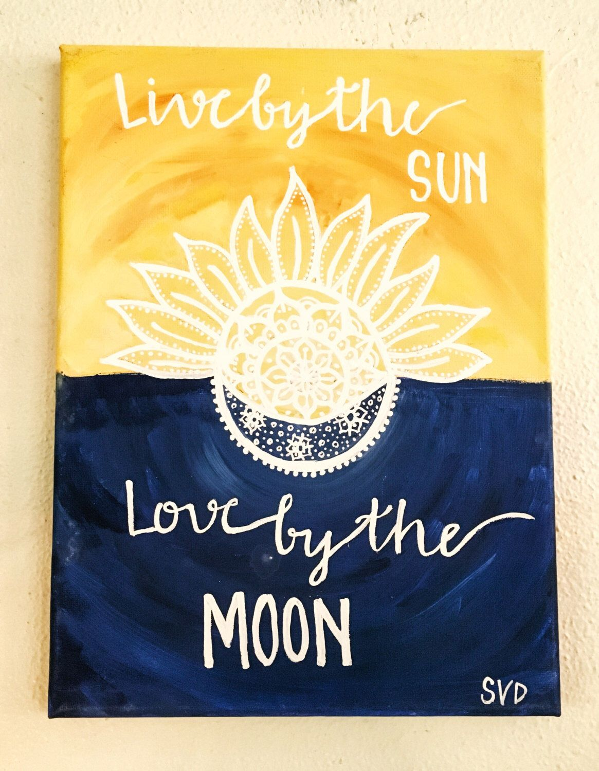 Painting Quotes Prepossessing Sun And Moon Quote Canvas Paintingmuseartwork On Etsy Https