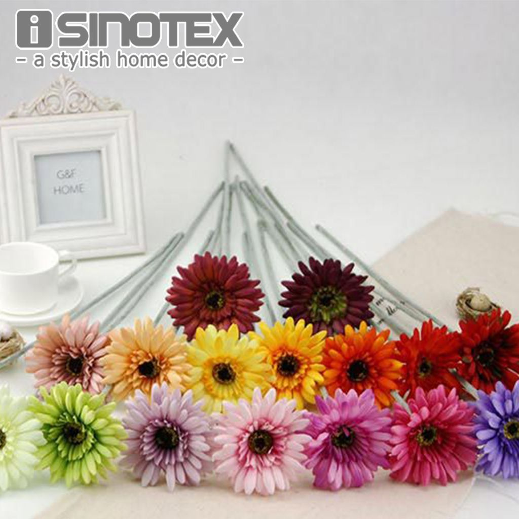 Silk Artificial Flowers Gerbera Sun Flowers Mariage Birthday Party Bridal Bouquet Floral Christmas Decoration New Y Christmas Floral Artificial Flowers Gerbera
