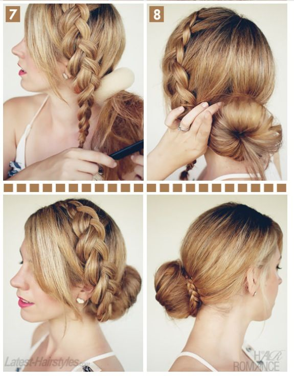 It is a fun way of putting your hair up of u get the hang of it then ...