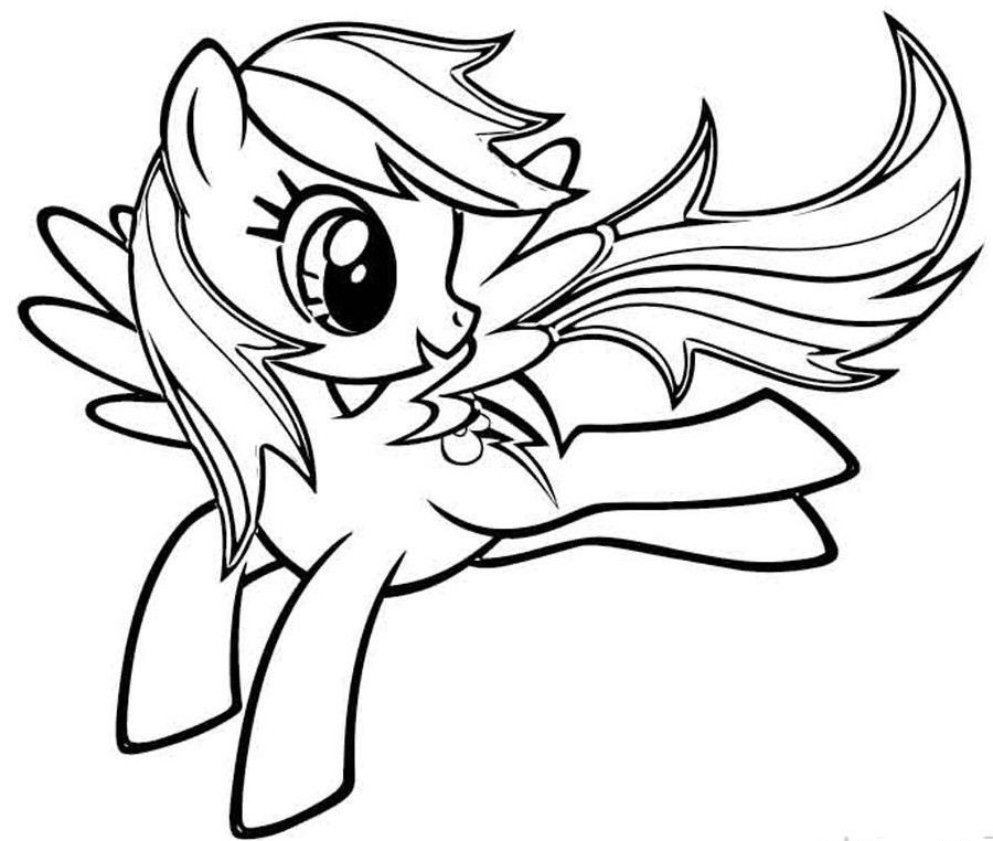 Rainbow Dash Coloring Pages My Little Pony Coloring Horse