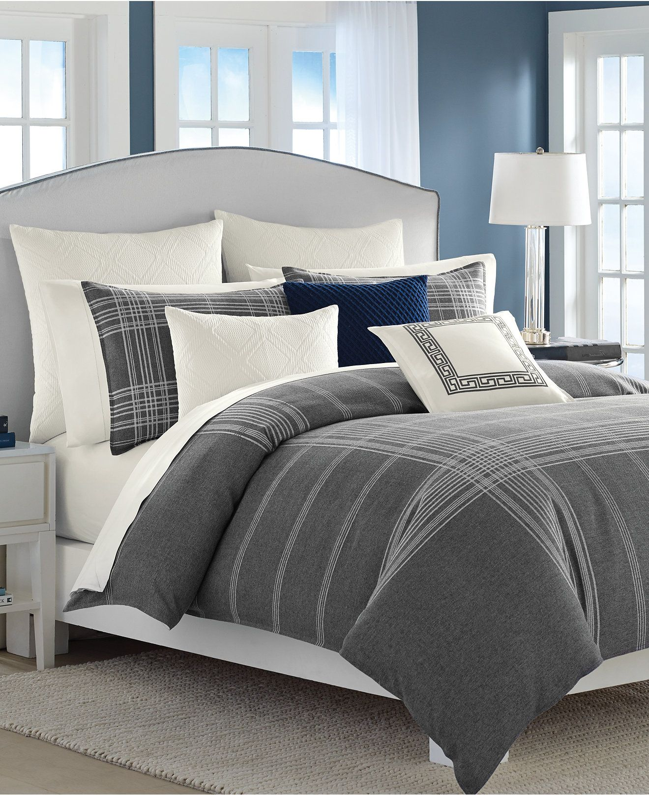 wondrous and comforter blue sets grey