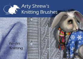 Arty Shrew's Knitting Brushes - http://www.dawnbrushes.com/arty-shrews-knitting-brushes/