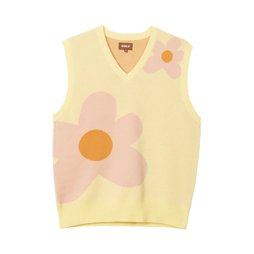Le Fleur Sweater Vest Cream By Golf Wang Fashion Inspo Outfits Aesthetic Clothes Clothes