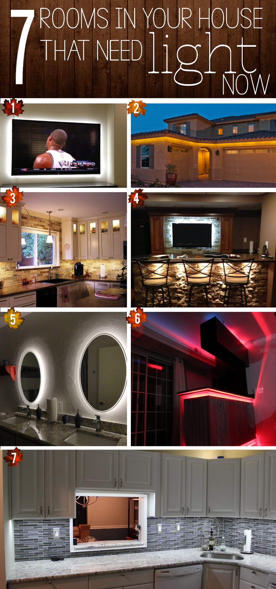 7 rooms in your house that need light now led lighting - Kitchen led lighting design guidelines ...