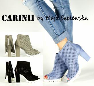 Wyprzedaz Carinii 3233 Botki Azurkowe Wiosna Blue 6178915988 Oficjalne Archiwum Allegro Boots Fashion Ankle Boot