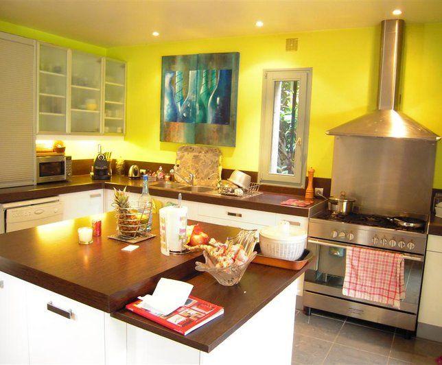 Photo Deco Cuisine Jaune Moderne Maison Usa Moderne Et Lumineuse
