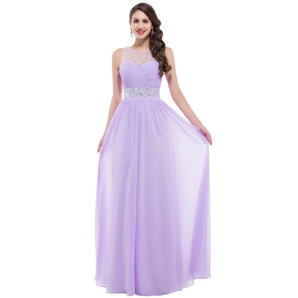 Очаровательное сиреневое платье в пол с перламутровыми камнями ...