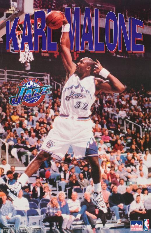 Karl Malone Utah Jazz Poster  734b23686