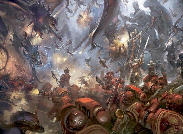 Warhammer 40k Blood Angels Vs Tyranids Warhammer 40k Artwork Warhammer Art Warhammer 40k Blood Angels