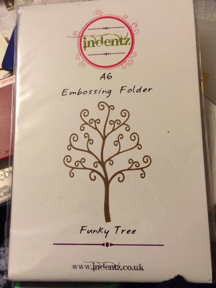 Indentz embossing folder funky tree a6 embossing