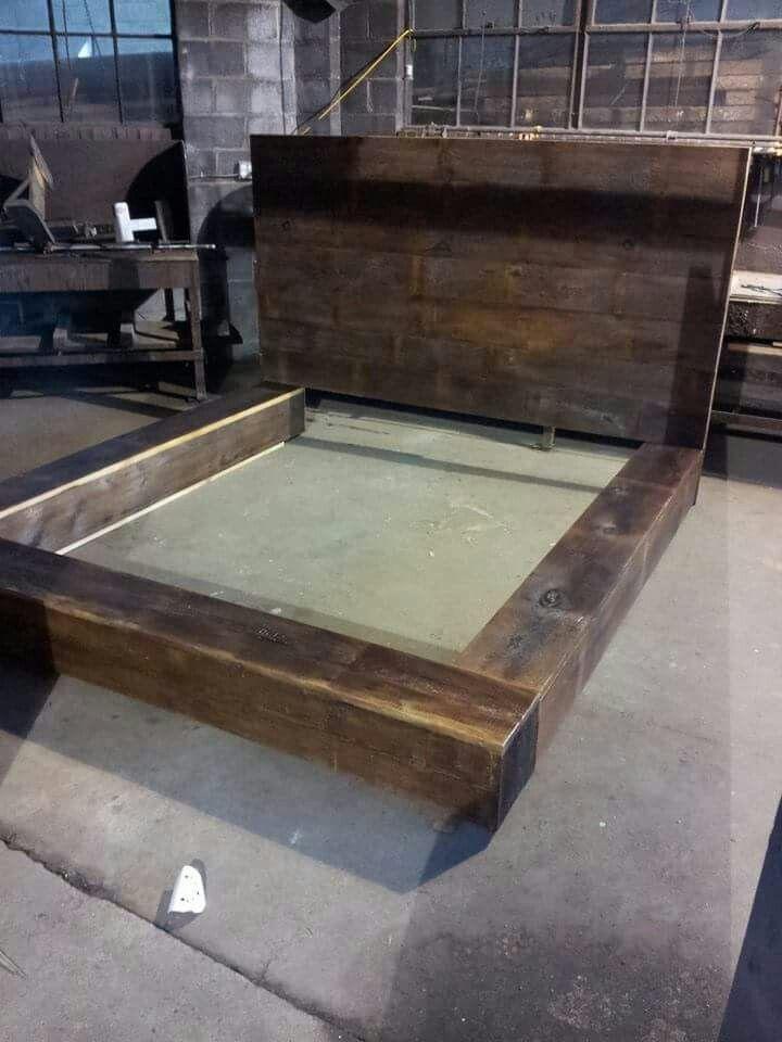 Barn Beam Bed | Barn beams, Beams, Wood