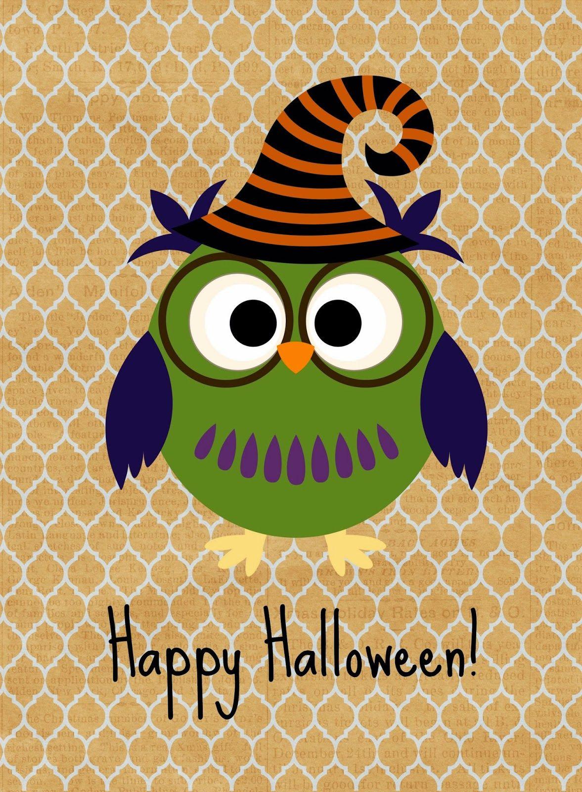 Free Halloween Printables | Eulen sprüche, Eule und Hexen
