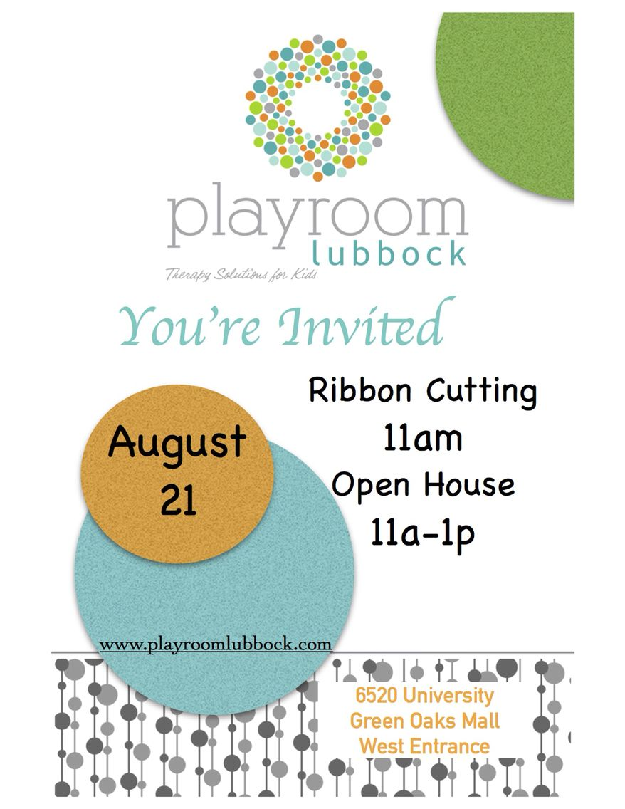Grand Opening Green Oaks Playroom Lubbock