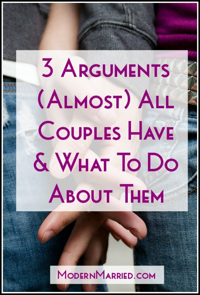 Marital arguments advice