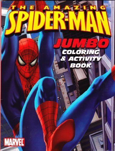 The Amazing Spider Man Jumbo Coloring Activity Book By Spider Man 3 75 The Amazing Spider Man Jumbo Col Spiderman Coloring Coloring Books Color Activities