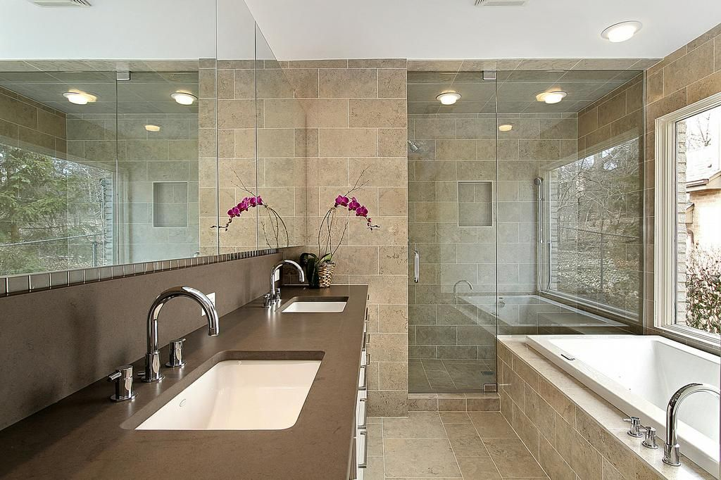 Contemporary Master Bath Design Full