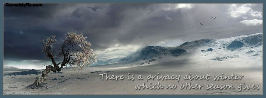 Privacy Of Winter Facebook Covers, Privacy Of Winter FB Covers