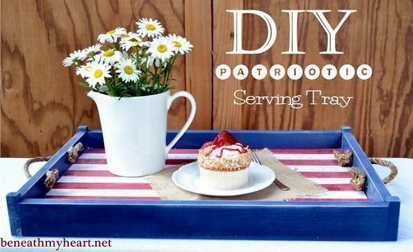 DIY Patriotic Serving Tray | Beneath My Heart