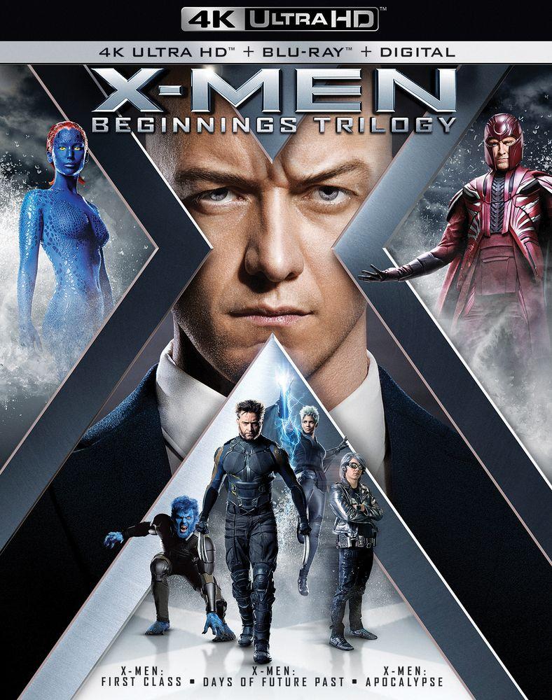 X Men Beginnings Trilogy Includes Digital Copy 4k Ultra Hd Blu Ray Blu Ray Best Buy Blu Ray Xmen Movie X Men