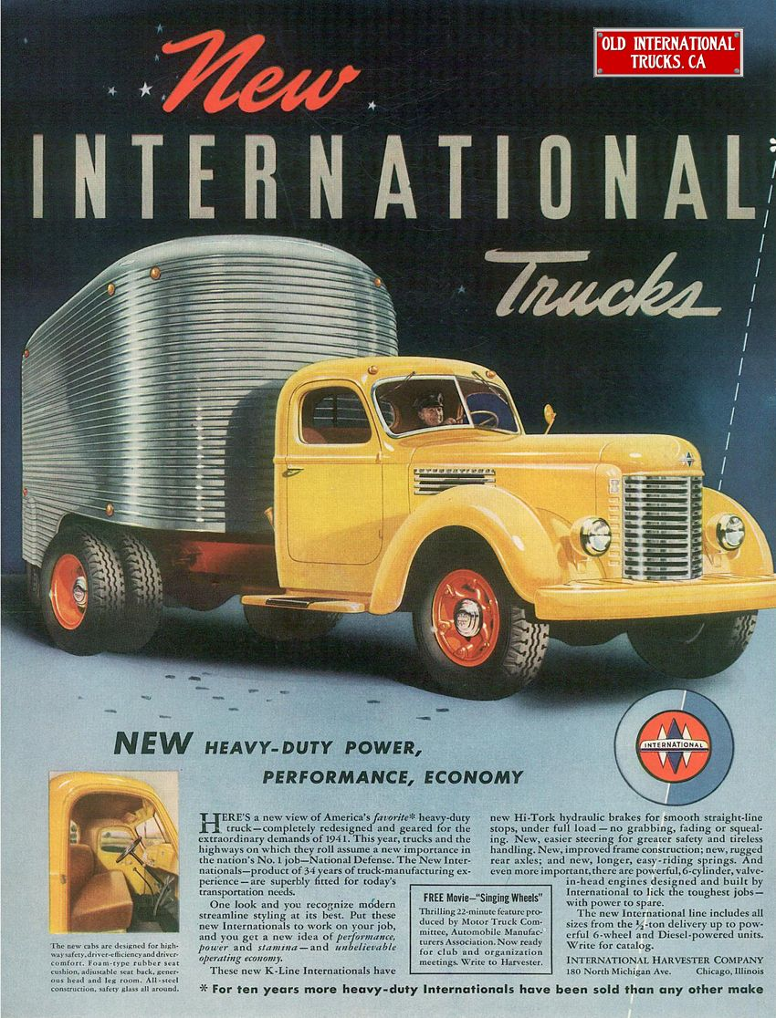 Advertisements Old Advertisements Trucks International Truck