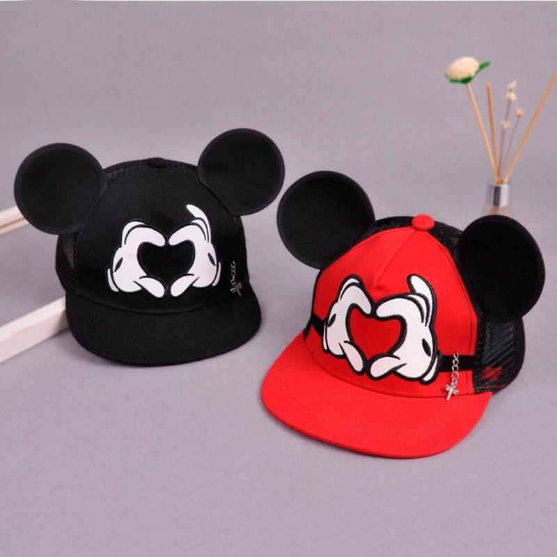Kids Boys Girls Mickey Minnie Mouse Baseball Cap Hip Hop Toddler Snapback Hat