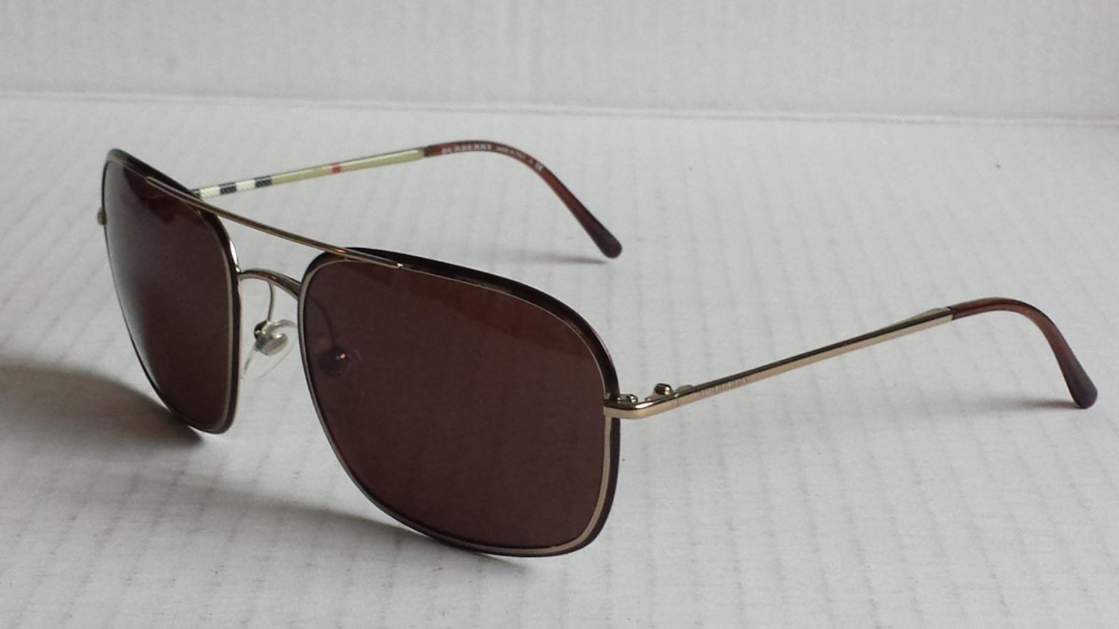 da919dc33a44  Burberry men sunglasses B3061 rectangular aviator Made in Italy Brown lens  visit our ebay store