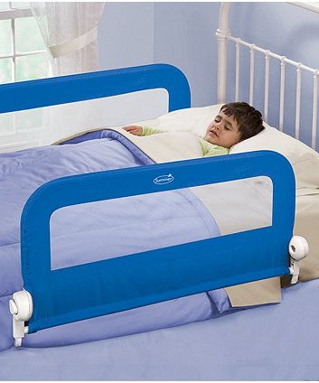 """W 2-Pack The Original Bed Rails for Toddlers X 48"""" Portable Bed Rail Bumper 7"""""""