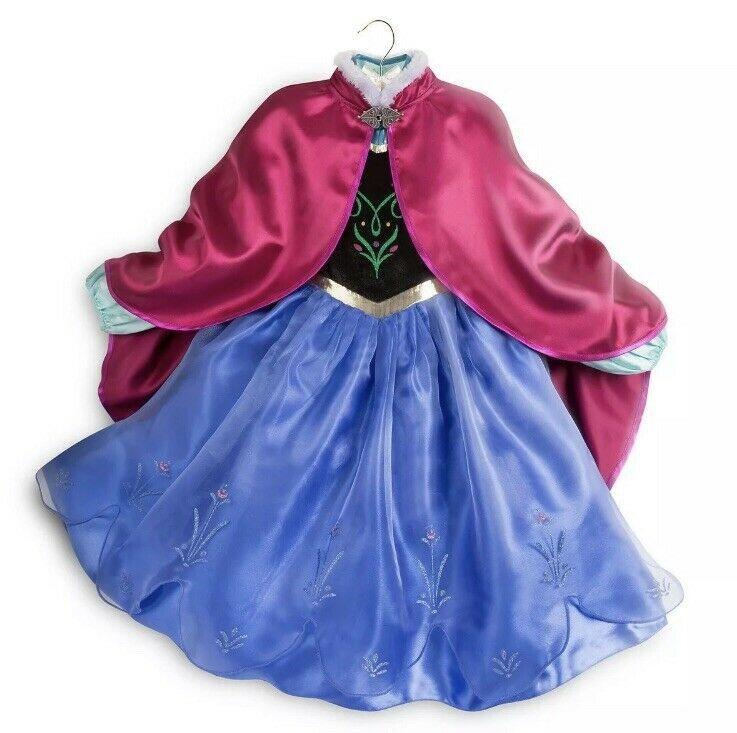 Disney Store Frozen Princess Anna Deluxe Coronation Costume Gown Dress 7//8-9//10