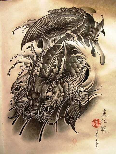Chinese cars bikes pinterest tattoo koi and tatting for Chinese coy fish