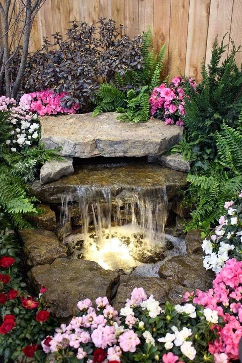Unbelievable Diy Pondless Water Feature Easy For Your Landscaping Waterfalls Backyard Backyard Water Feature Water Features In The Garden