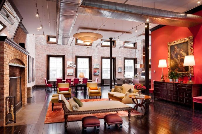 30 Million Luxury Loft Apartment In Tribeca New York City Loft Living Space Loft Living Nyc Loft
