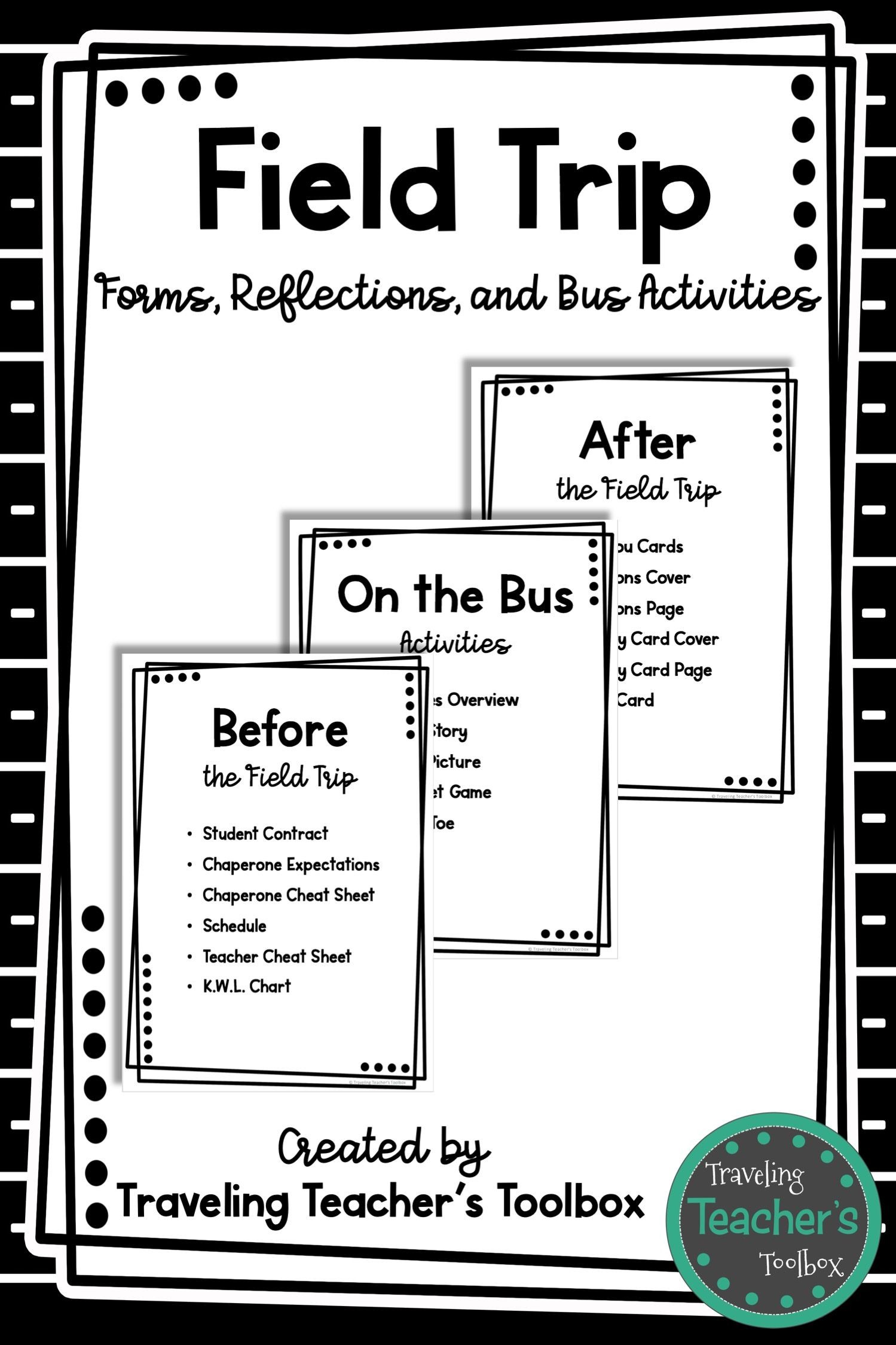 Field Trip Forms Reflections And Bus Activities With