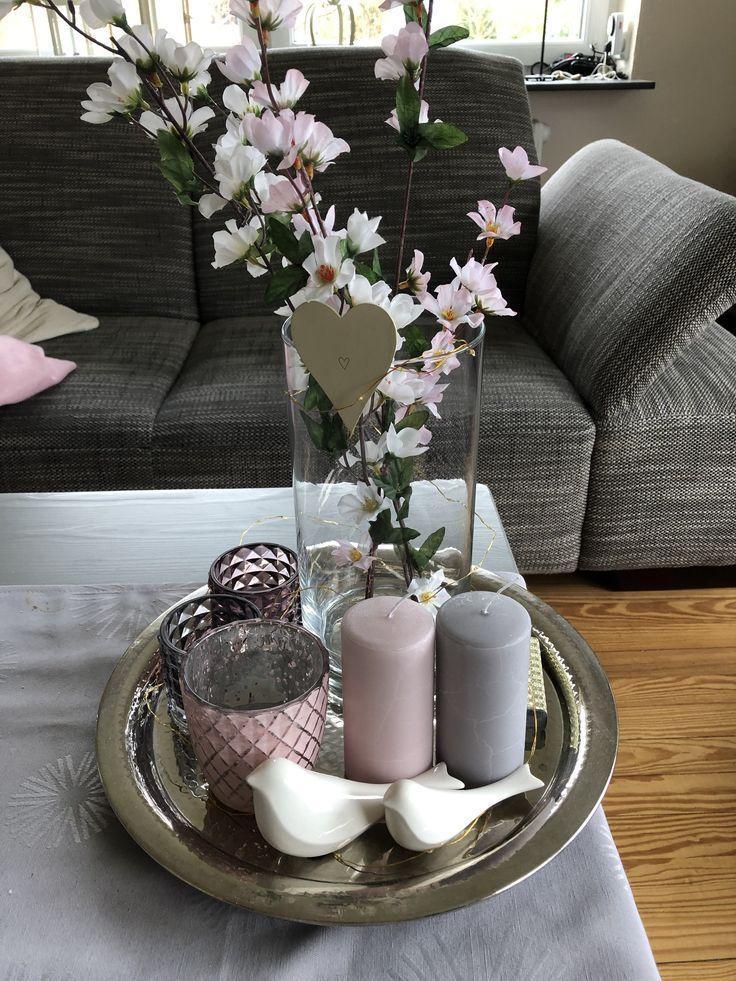 Frühling Deko Tisch Frühlingsdeko Tischdeko Kerzen Spring - Ostern #wohnzimmerdeko