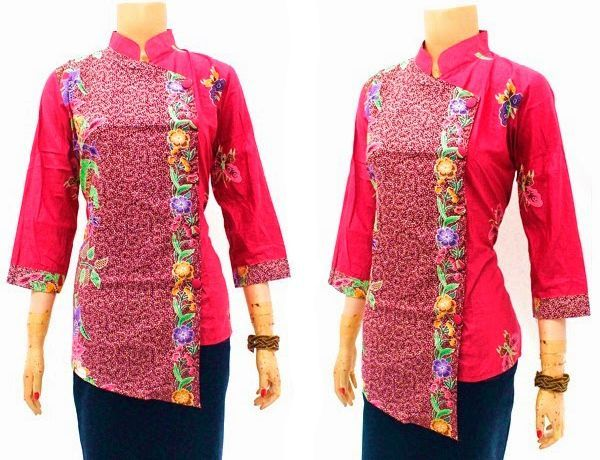 Kemeja Batik Wanita Kancing Samping Modern Baju Batik Terbaru