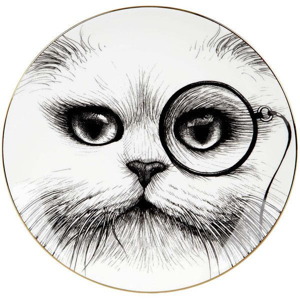 Rory Dobner Large Monocle Cheshire Cat Perfect Plate 120