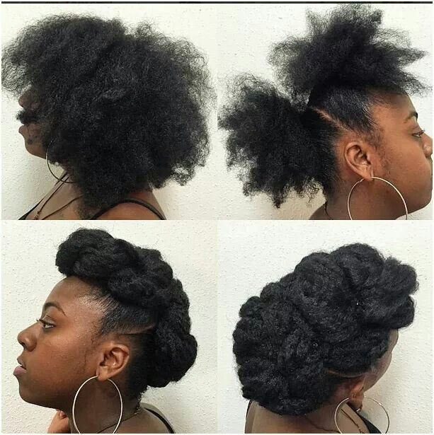 2 Ponytails Updo Natural Hair Styles Classy Hairstyles Natural Hair Updo