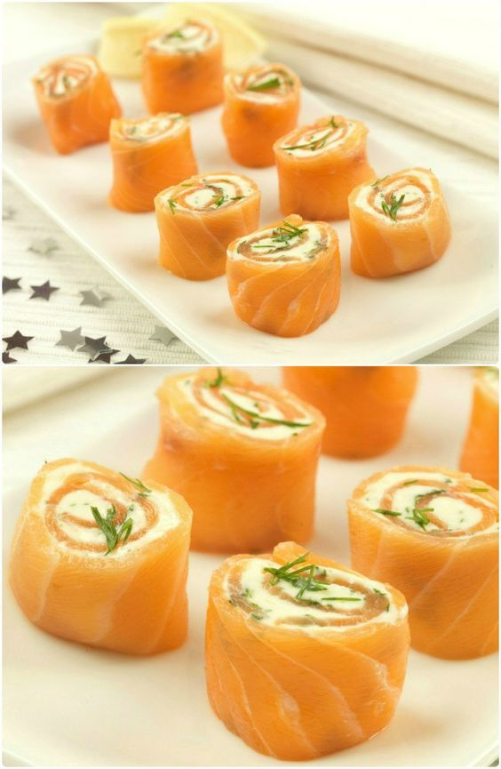Christmas Party Entree Ideas Part - 45: Salmon Pinwheels Easy Party Food Recipe Great For Christmas Parties