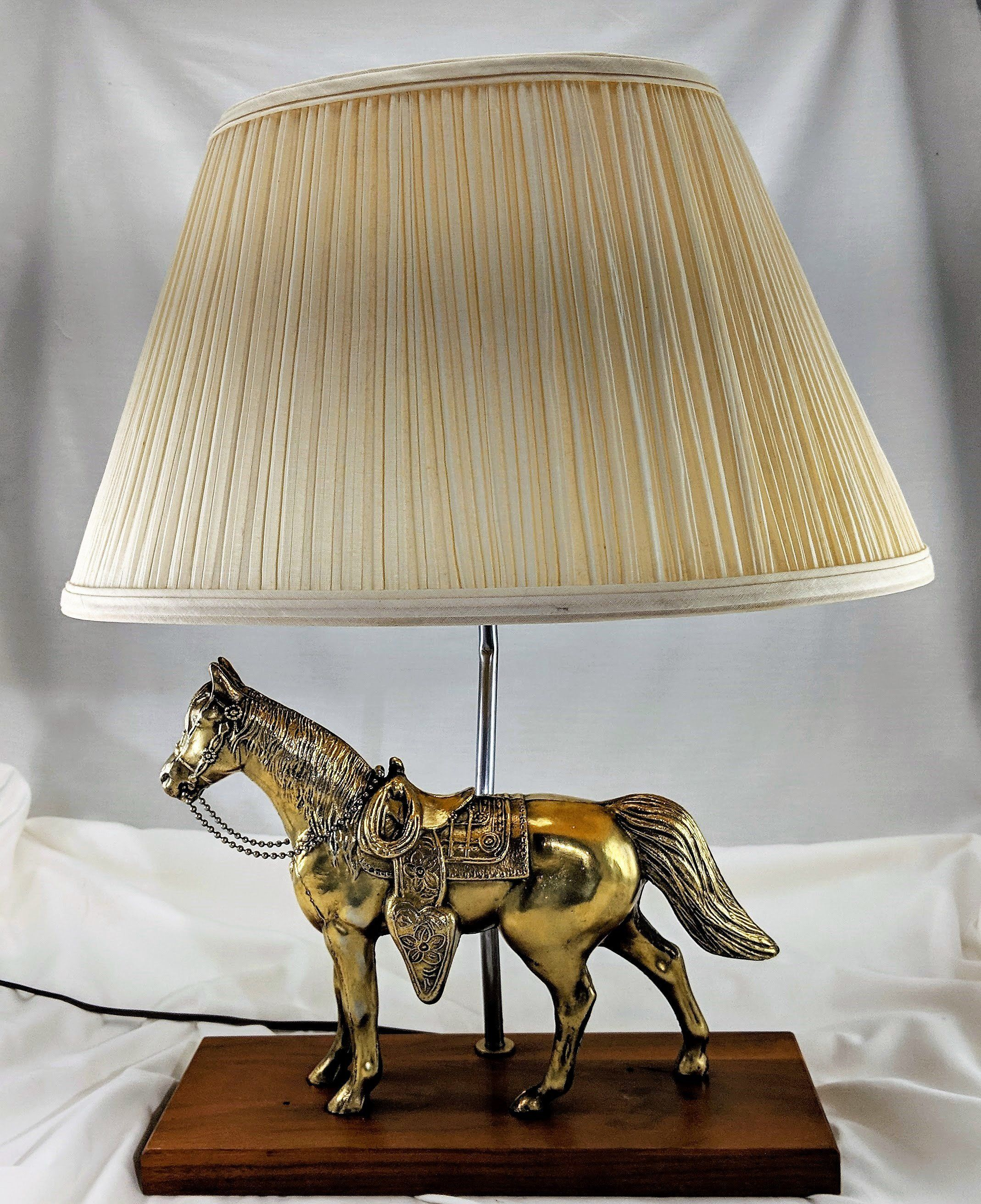 Vintage Brass Horse Electric Table Lamp Restored Western Etsy Horse Lamp Lamp Vintage Brass