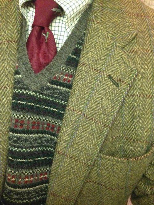 Four patterns, and the conspicuously absent pocket square
