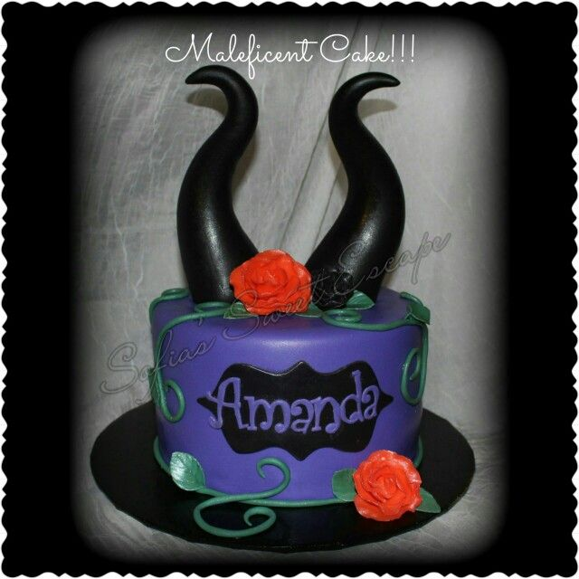 Maleficent cake Disney Cakes Pinterest Maleficent cake Cake