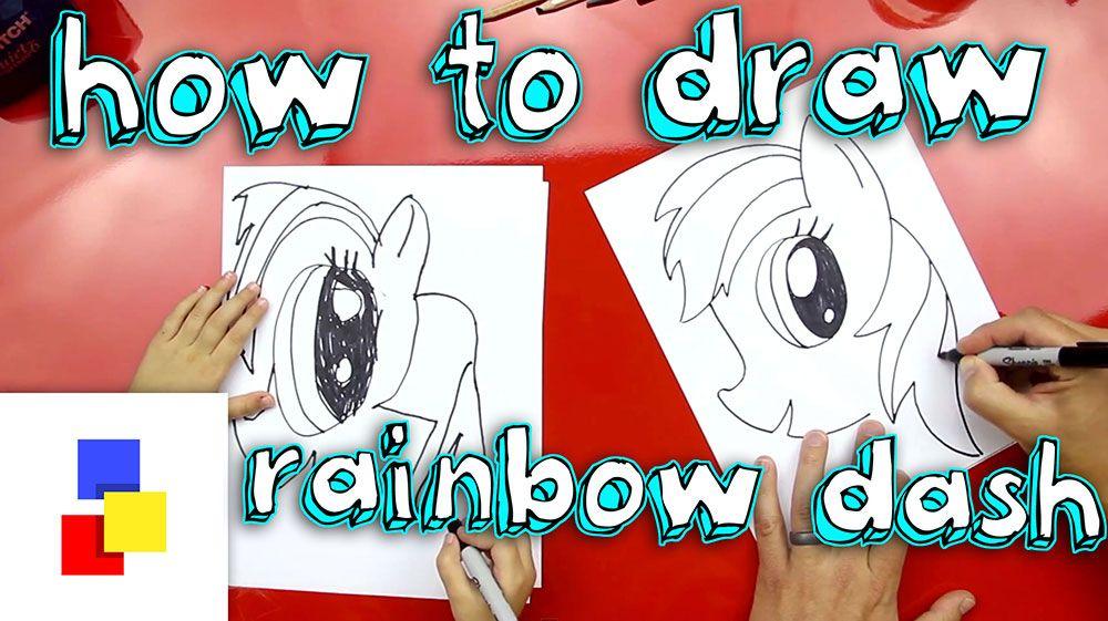 How To Draw Rainbow Dash Art For Kids Hub Drawings Rainbow Dash