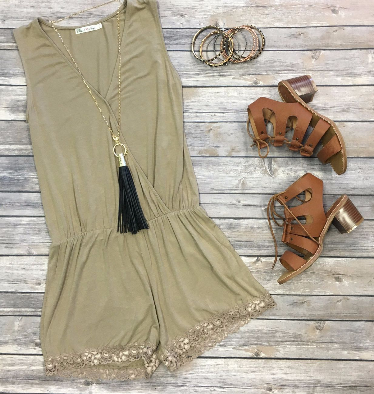 Simply Stated Romper: Mocha from privityboutique