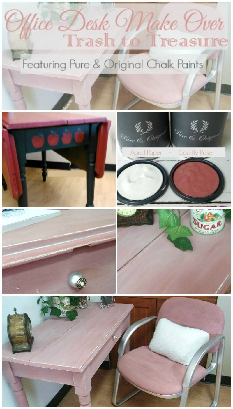 office desk makeover featuring pure original chalk paint - Office Makeover Contest