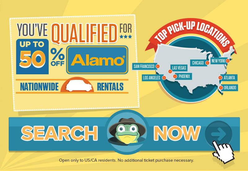 You've qualified for additional savings with Alamo car
