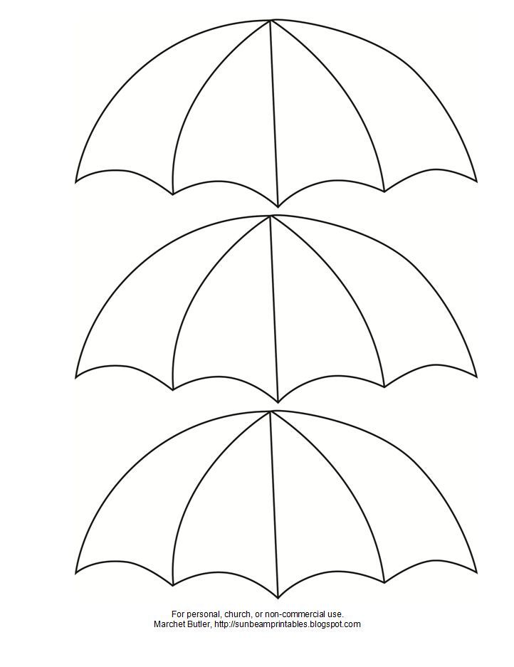 Sunbeam printables february 2012 templates pinterest for Printable umbrella template for preschool
