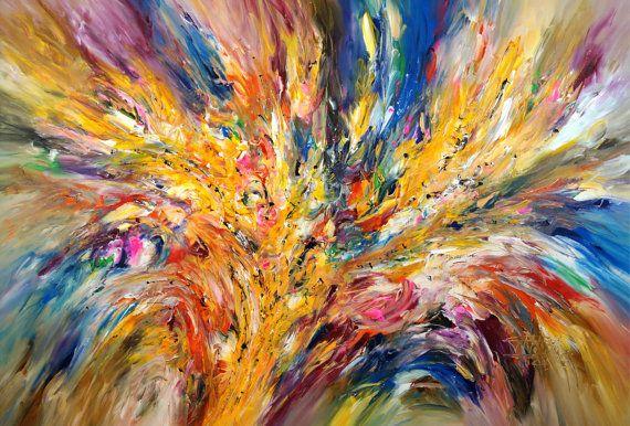 "Original Abstract Painting. Acrylic on canvas. 61.0"" x 41.3"" (144 cm x 105 cm). Artist Peter Nottrott"