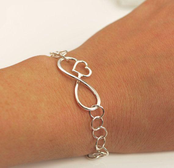 ON SALE Chain Bracelet  Infinity Heart  by TheJewelryGirlsPlace, $23.96